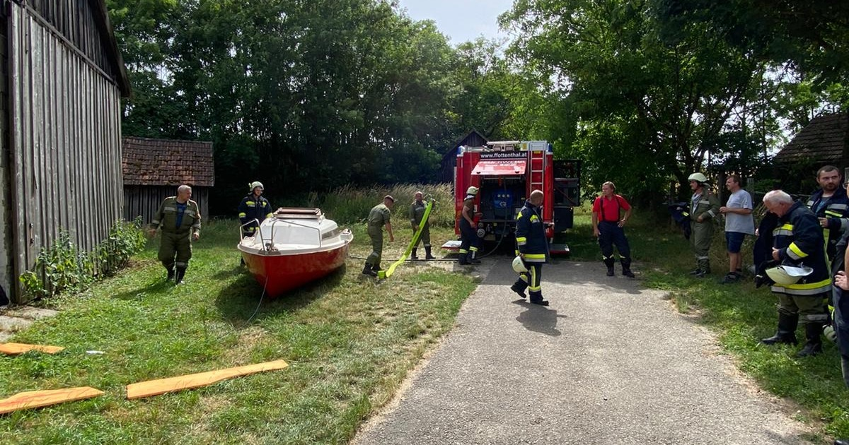 Motorbootbrand in Ottenthal